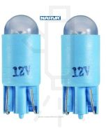 Narva L.E.D Wedge Globes (2) - Blue, 12v T-10mm KW2.1 x 9.5d