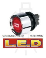 Narva 60099BL 12 Volt Starter Switch with Red L.E.D