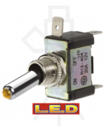 Narva 60286BL Off/On Toggle Switch with Blue L.E.D