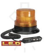 Narva 85369A L.E.D Quad Flash Strobe Light (Amber) with Magnetic Base, Cigarette Lighter Plug and 2.5m Spiral Lead