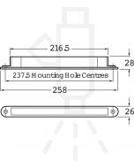 Hella 2156-24V Matrix Amber LED Rear Direction Indicator 24V DC