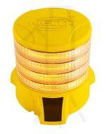 Hella DuraRAY Series - Amber MultiFLASH, 4 LED Discs, Yellow Housing (HM9386YEL4A)