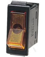 Hella Off-On Rocker Switch - Amber Illuminated, 12V (4430)