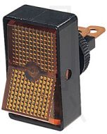 Hella Off-On Rocker Switch - Amber Illuminated, 12V (4442)