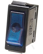 Hella Off-On Rocker Switch - Blue Illuminated, 12V (4429)