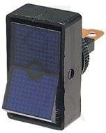 Hella Off-On Rocker Switch - Blue Illuminated, 12V (4443)