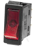 Hella Off-On Rocker Switch - Red Illuminated, 12V (4427)