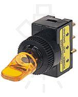 Hella Off-On Toggle Switch - Amber Illuminated, 12V (4424)
