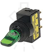 Hella Off-On Toggle Switch - Green Illuminated, 12V (4422)