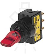 Hella Off-On Toggle Switch - Red Illuminated, 12V (4421)