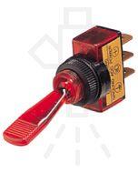 Hella Off-On Toggle Switch - Red Illuminated, 12V (4433)