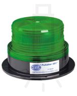 Hella Pulsator 451 Series Green - Double Flash, Multi Voltage 12-48V DC (1661)