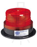 Hella Pulsator 451 Series Red - Double Flash, Multi Voltage 12-48V DC (1644)